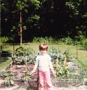 Me and our vegetable garden