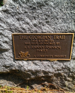 20140801 - Georgian Trail plaque