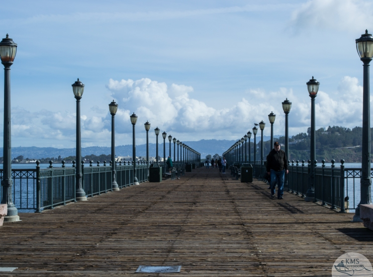 20150323 - pier at the start of our climb to coit